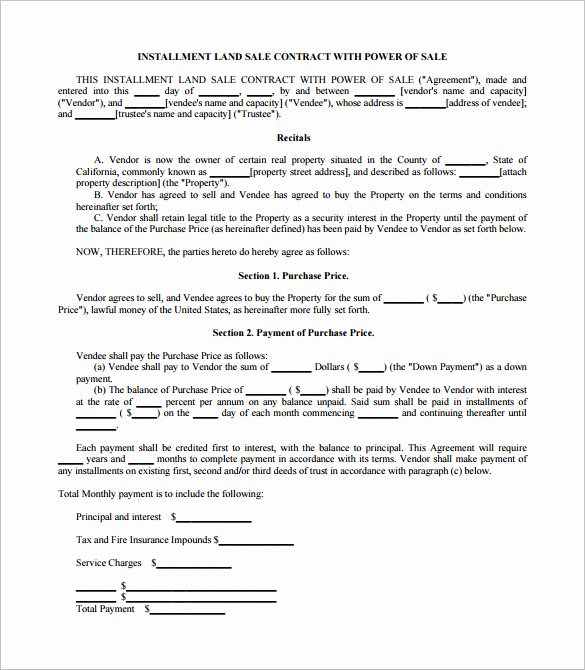 Purchase Agreement Template Word Beautiful Sales Contract Template 24 Word Pdf Documents Download