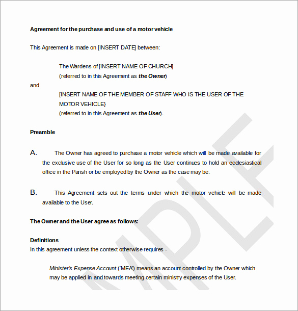 Purchase Agreement Template Word Elegant Purchase Agreement Template 28 Free Word Pdf Document