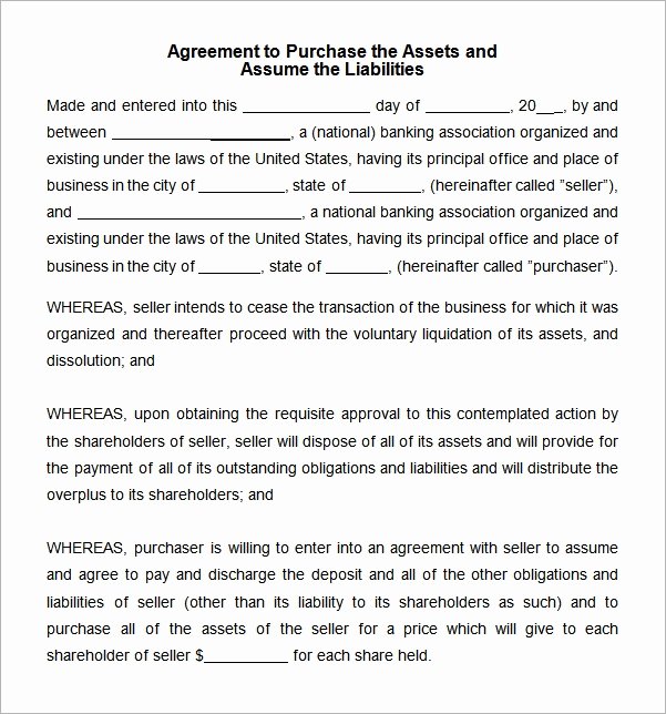 Purchase Agreement Template Word Lovely asset Purchase Agreement 10 Free Pdf Word Download
