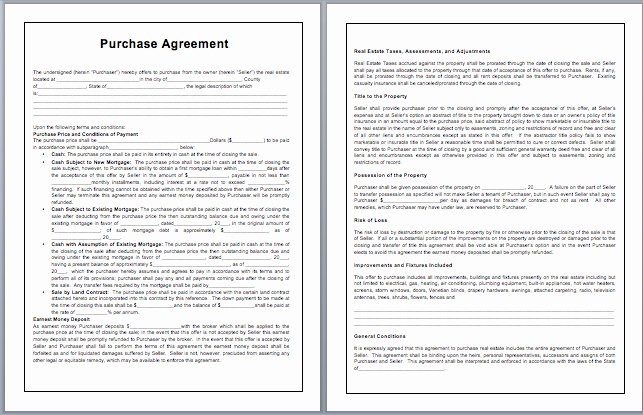 Purchase Agreement Template Word Luxury Purchase Contract Template Microsoft Word Templates