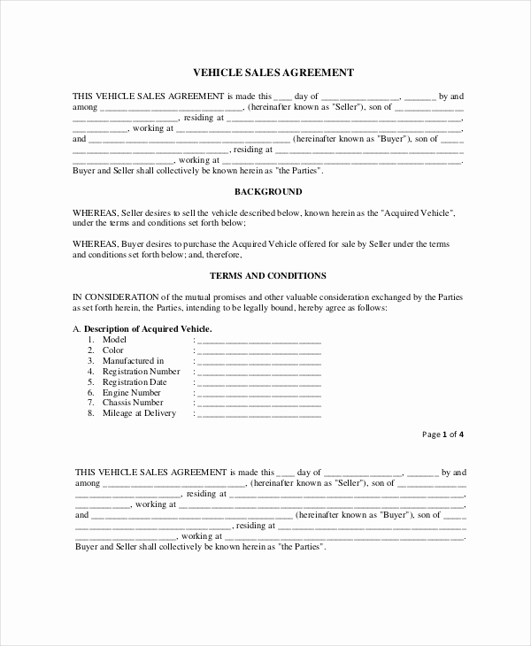 Purchase and Sale Agreement form Beautiful 20 Purchase and Sale Agreement Templates Word Pdf