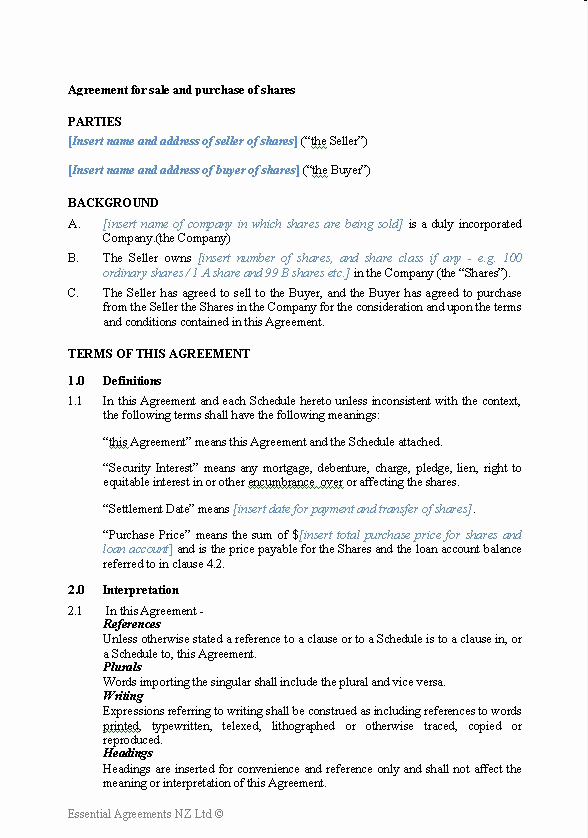 Purchase and Sale Agreement form Beautiful Free Printable Sale Contract form Generic