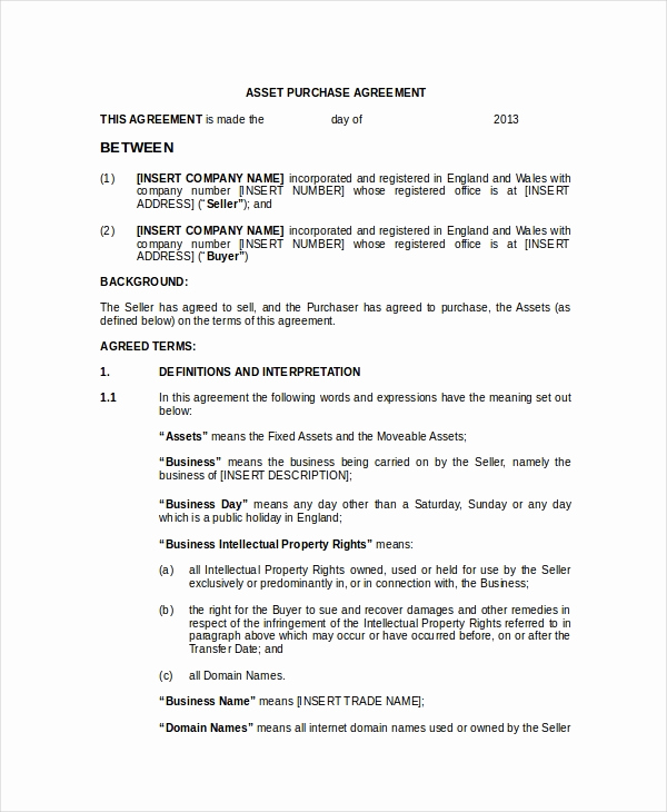 Purchase and Sale Agreement form Best Of 20 Purchase and Sale Agreement Templates Word Pdf