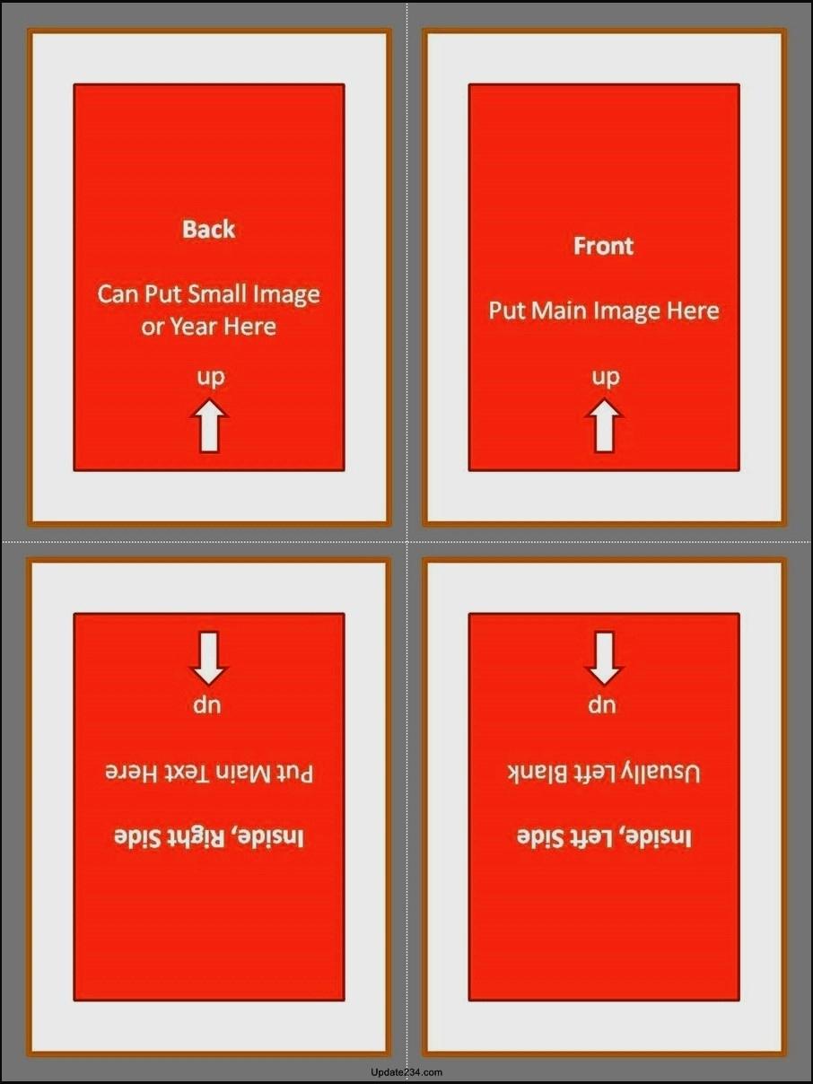 Quarter Fold Card Template Awesome Quarter Fold Card Template Template Update234