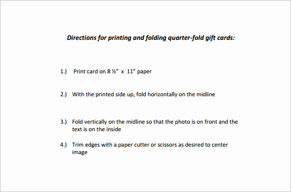 Quarter Fold Card Template Beautiful Quarter Fold Card Template – 7 Free Printable Word Pdf