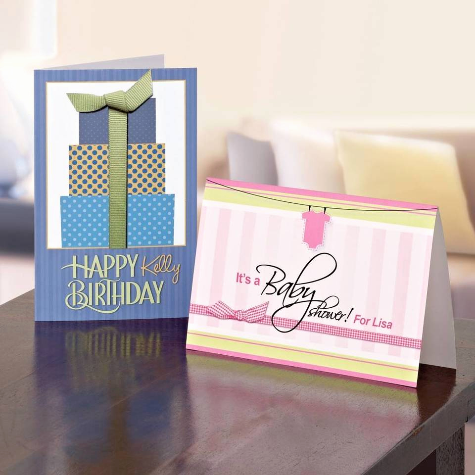Quarter Fold Card Template Best Of Avery Quarter Fold Greeting Cards 4 14 X 5 12 White Pack