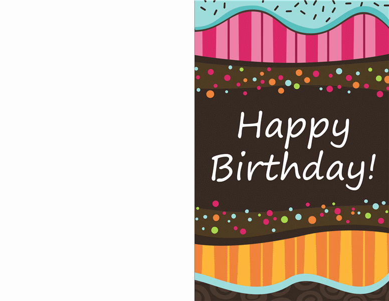 Quarter Fold Card Template Fresh Birthday Card Dots and Stripes Kids Half Fold