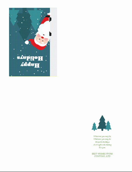 Quarter Fold Card Template Fresh Holiday Bud Planner Fice Templates