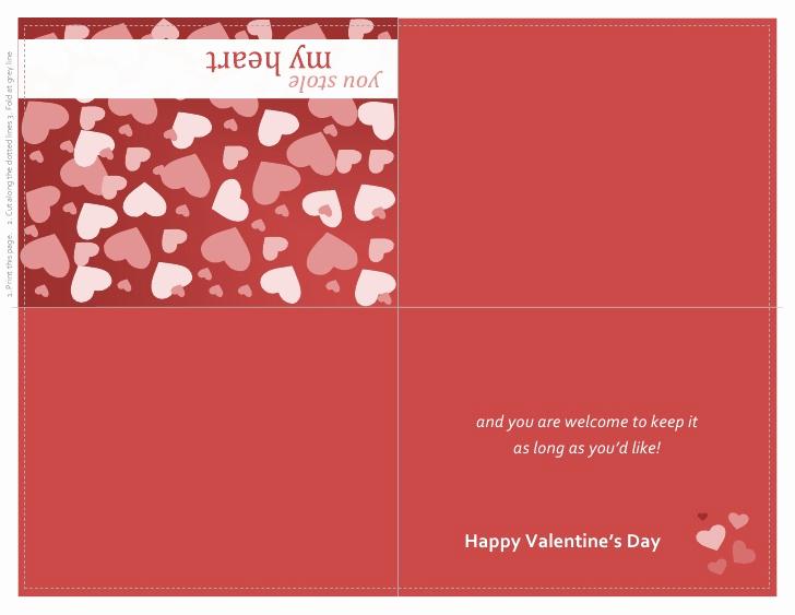 Quarter Fold Card Template Lovely Valentines Day Card Quarter Fold
