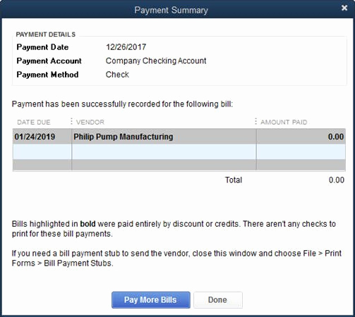 Quickbooks Pay Stub Template Elegant Quickbooks 2014 Credits On Bill Payment Stubs