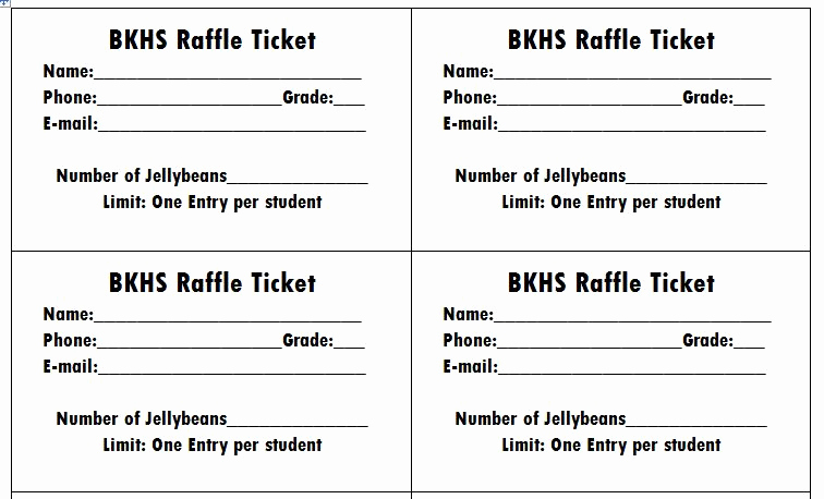 Raffle Ticket Template Word Best Of 40 Free Editable Raffle & Movie Ticket Templates