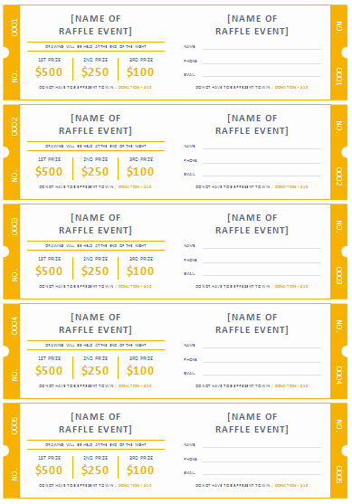 Raffle Ticket Template Word Elegant 45 Raffle Ticket Templates