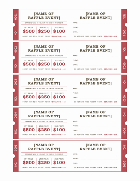 Raffle Ticket Template Word Elegant Raffle Tickets
