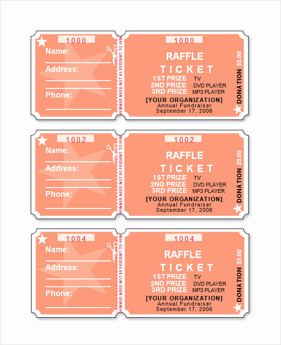 Raffle Ticket Template Word Inspirational 12 Sample Raffle Sheet Templates Pdf Word Excel Pages