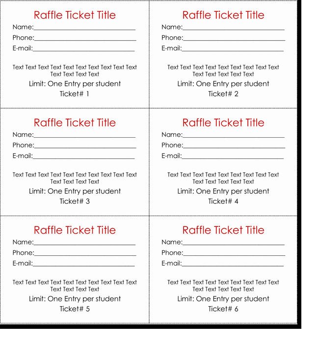 Raffle Ticket Template Word Inspirational 20 Free Raffle Ticket Templates with Automate Ticket