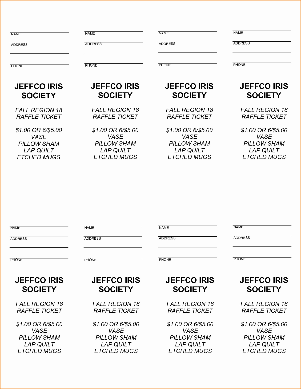 Raffle Ticket Template Word New 3 Raffle Tickets Template Word