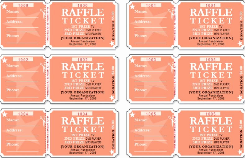Raffle Ticket Template Word New Raffle Ticket Templates Word Templates Docs