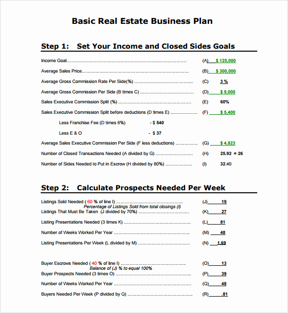 Real Estate Business Plan Template Awesome Sample Real Estate Business Plan Template 13 Free