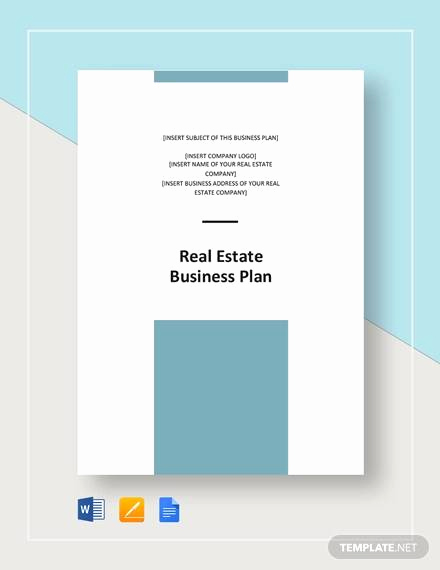 Real Estate Business Plan Template Lovely Sample Real Estate Business Plan Template 13 Free