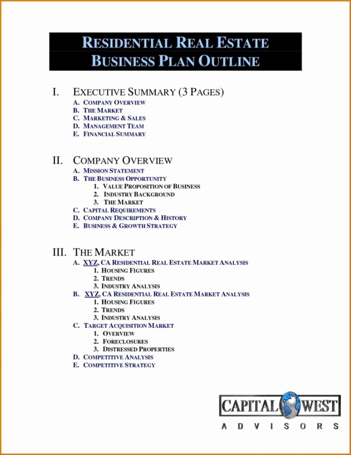 Real Estate Business Plan Template Unique Real Estate Business Plan Template Pdf – Real Estate