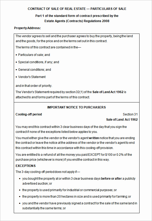 Real Estate Contract form Awesome 14 Real Estate Contract Templates Word Pages Docs