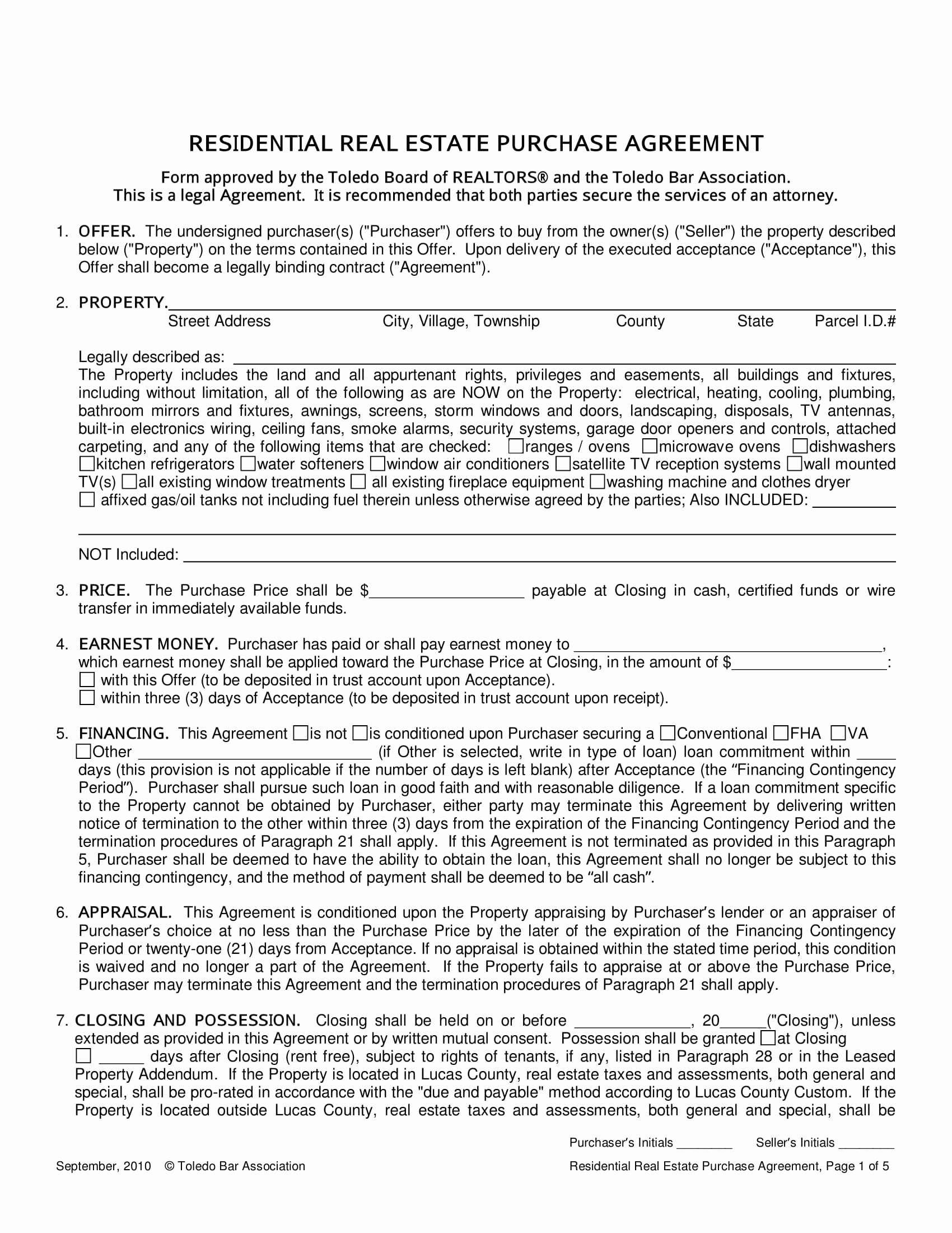 Real Estate Contract form Awesome 15 Real Estate Contract and Agreement forms