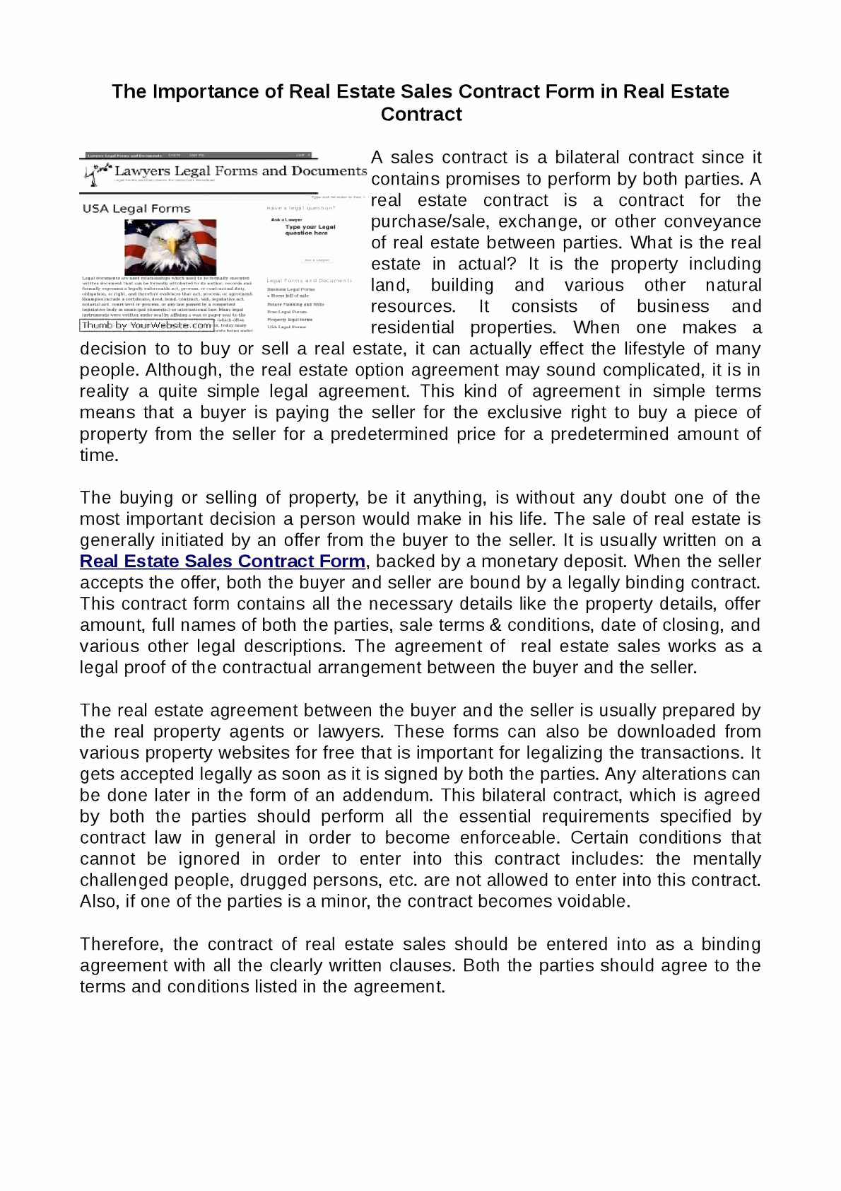Real Estate Contract form Inspirational Calaméo Real Estate Sales Contract form