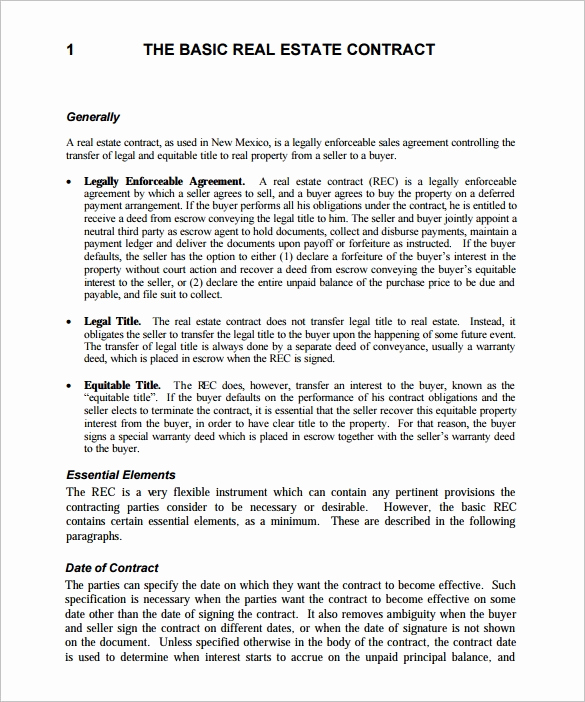 Real Estate Contract form Luxury 14 Real Estate Contract Templates Word Pages Docs