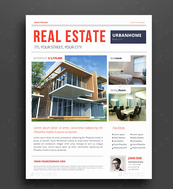 Real Estate Flyer Ideas Awesome 32 Real Estate Flyer Designs Ai Word Psd Eps Vector