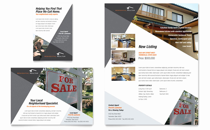 Real Estate Flyer Ideas Best Of Contemporary & Modern Real Estate Flyer & Ad Template Design