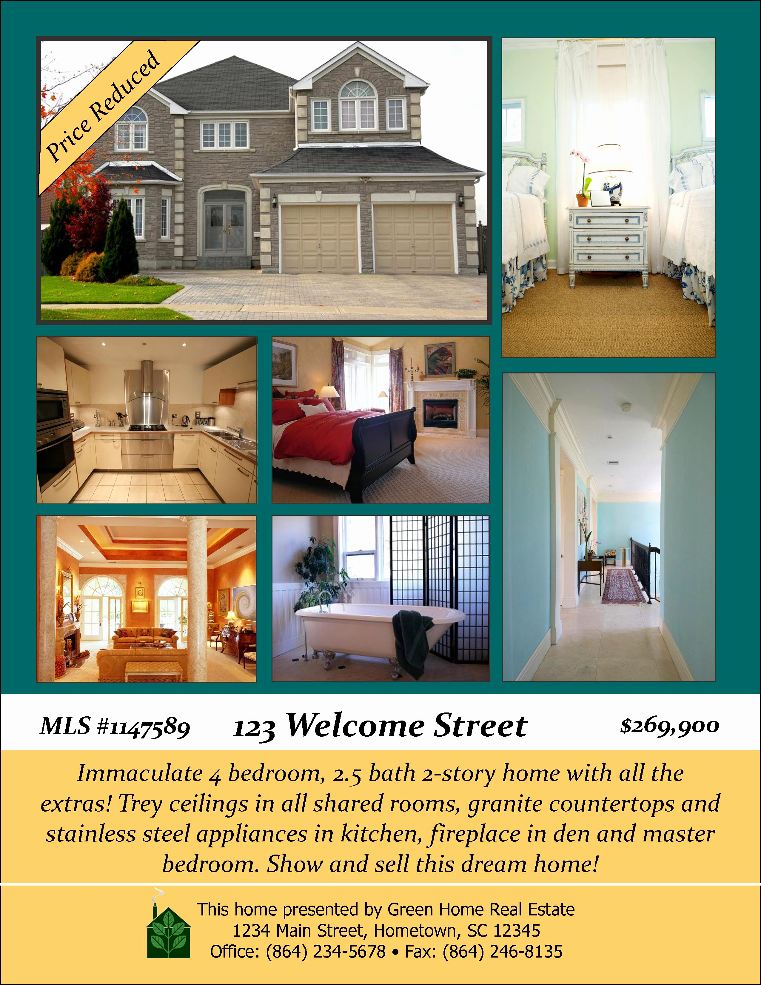 Real Estate Flyer Ideas Luxury Open House Designs