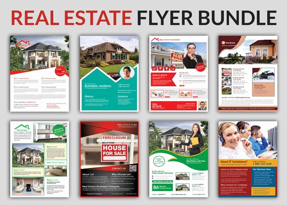 Real Estate Flyer Ideas New Real Estate Flyer Bundle Templates by Afzaalgraphics On