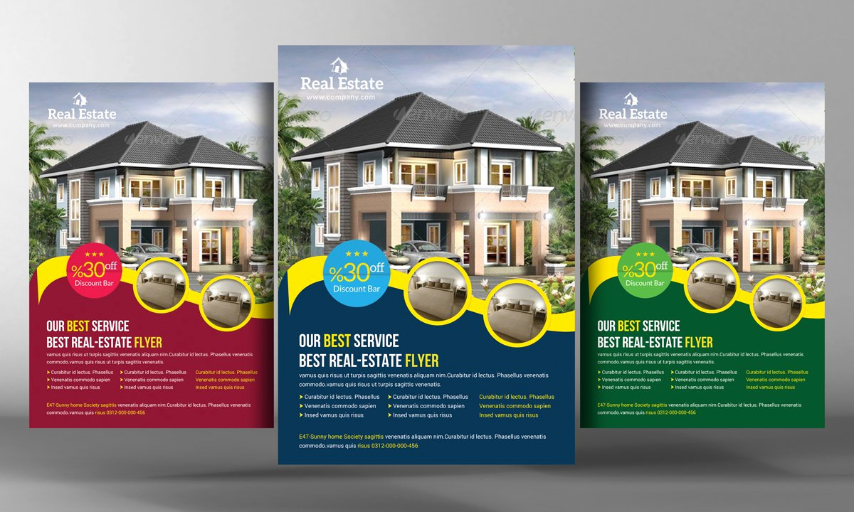 Real Estate Flyer Templates Awesome Real Estate Flyer Template Flyer Templates Creative Market
