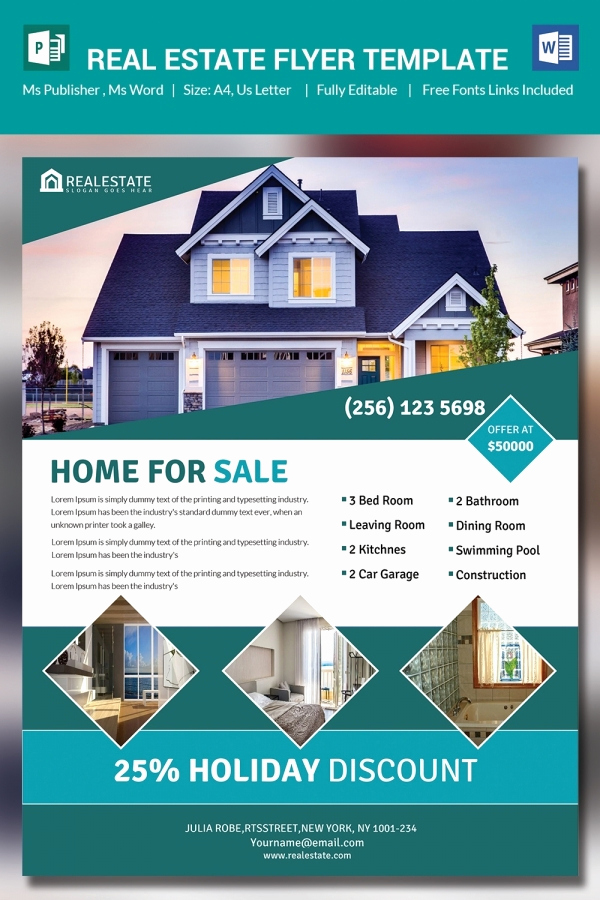 Real Estate Flyer Templates Best Of 26 Microsoft Publisher Templates Pdf Doc Excel