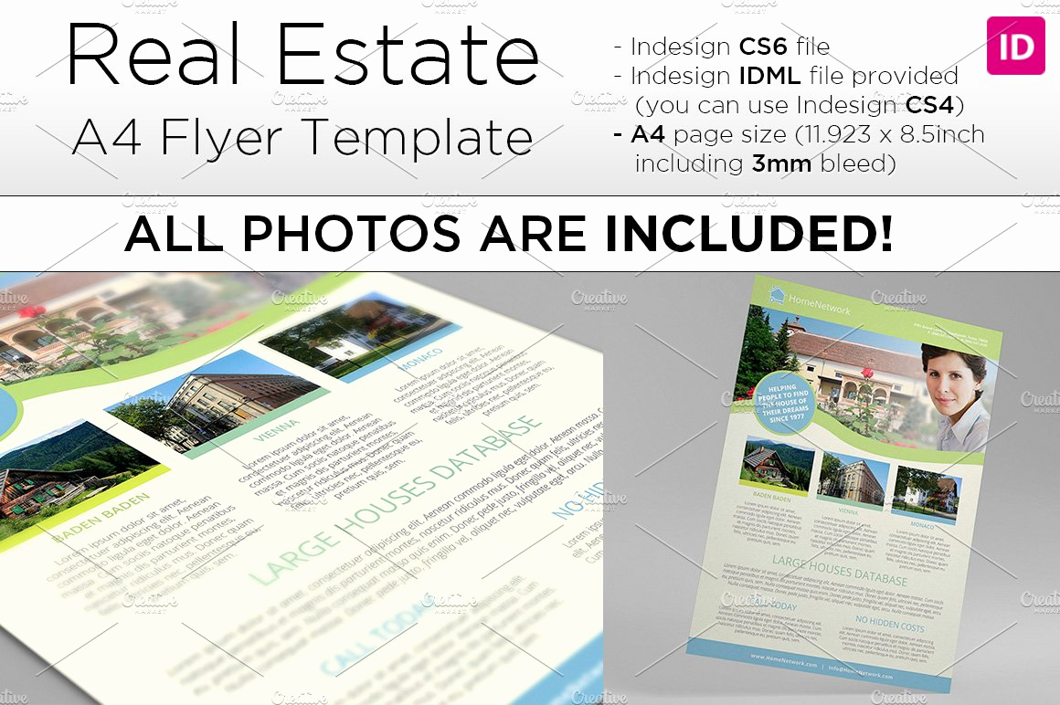 Real Estate Flyer Templates Elegant A4 Real Estate Flyer Template Flyer Templates Creative