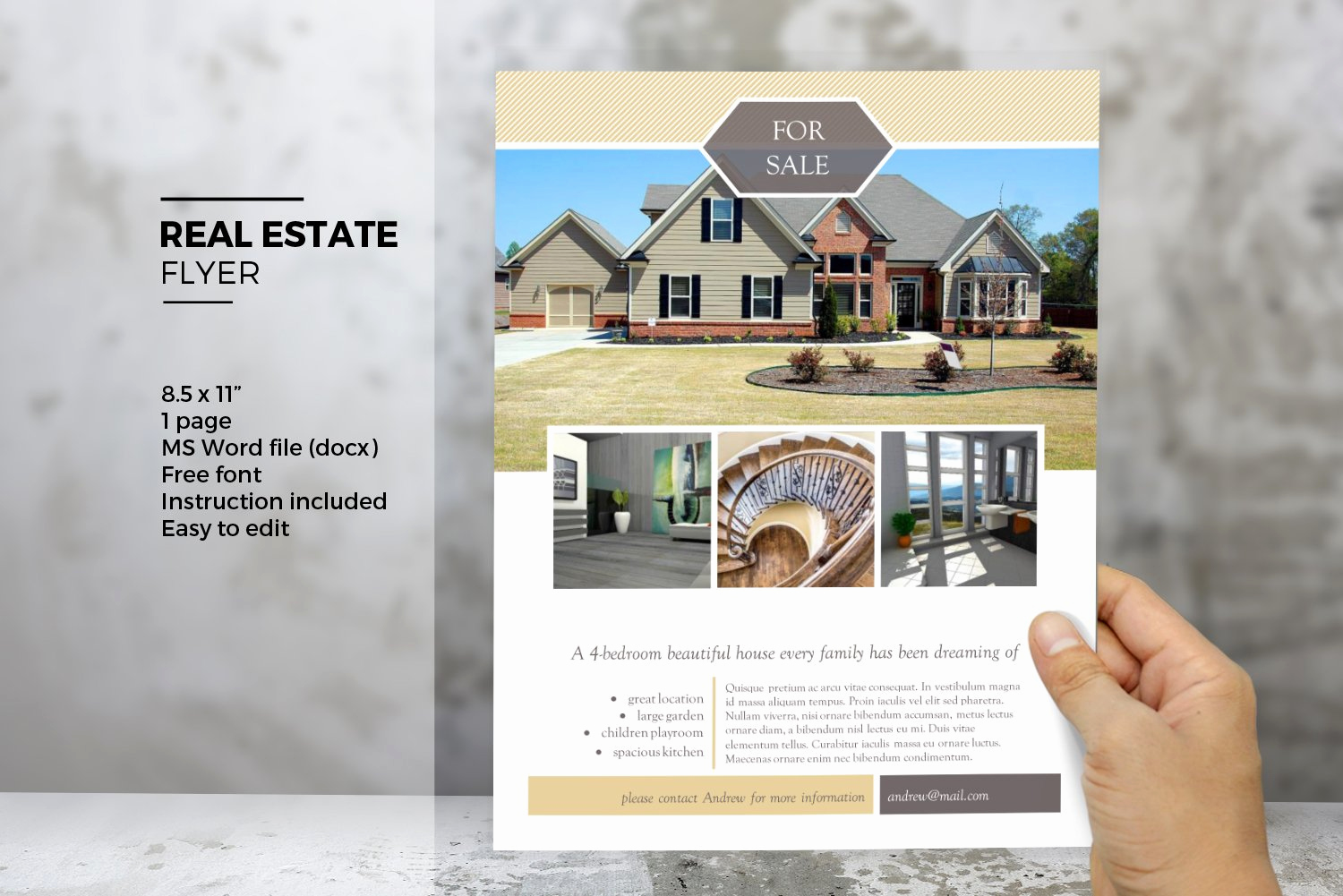 Real Estate Flyer Templates Elegant Ms Word Real Estate Flyer Template Flyer Templates