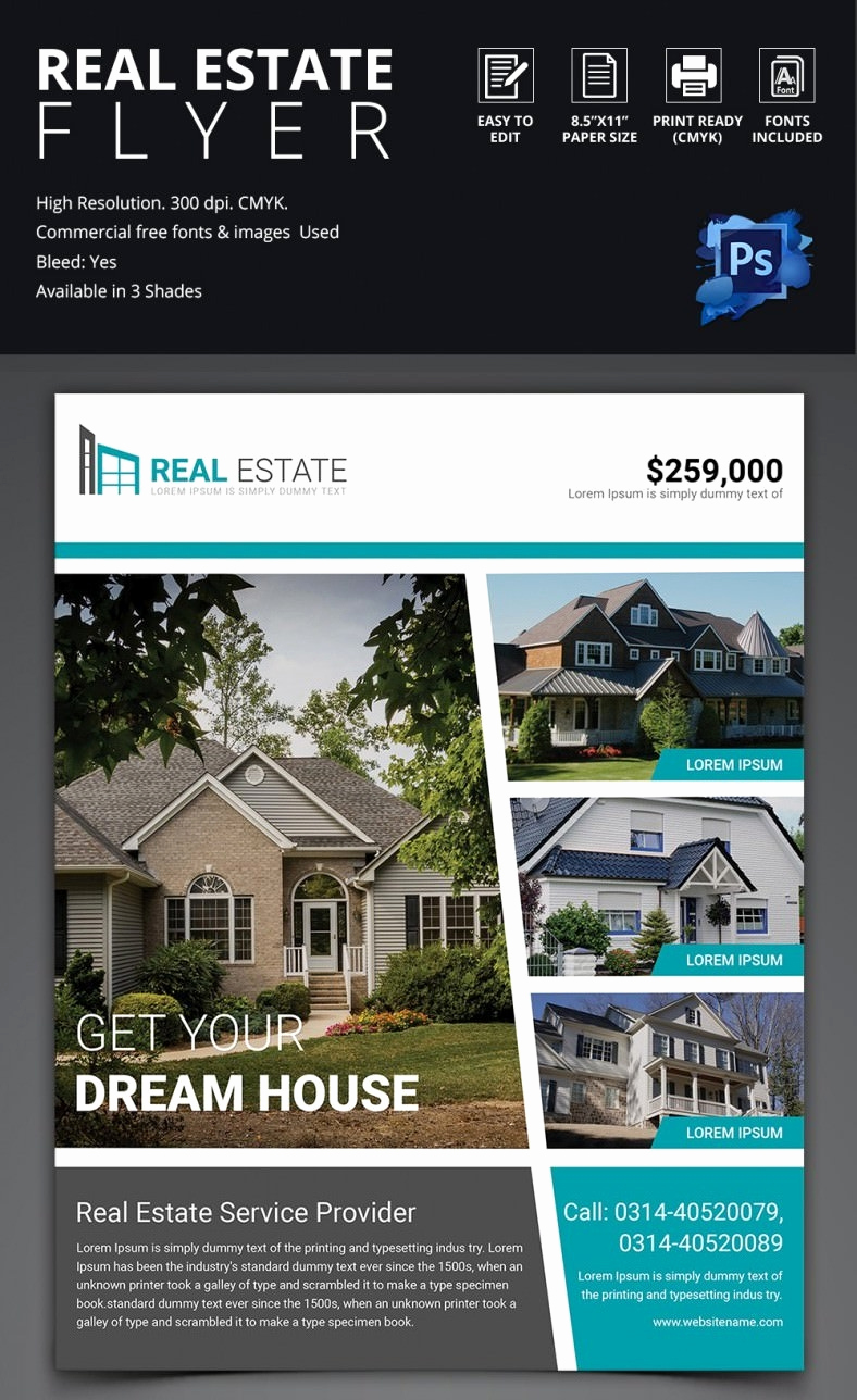 Real Estate Flyer Templates Elegant Real Estate Flyer Template 37 Free Psd Ai Vector Eps
