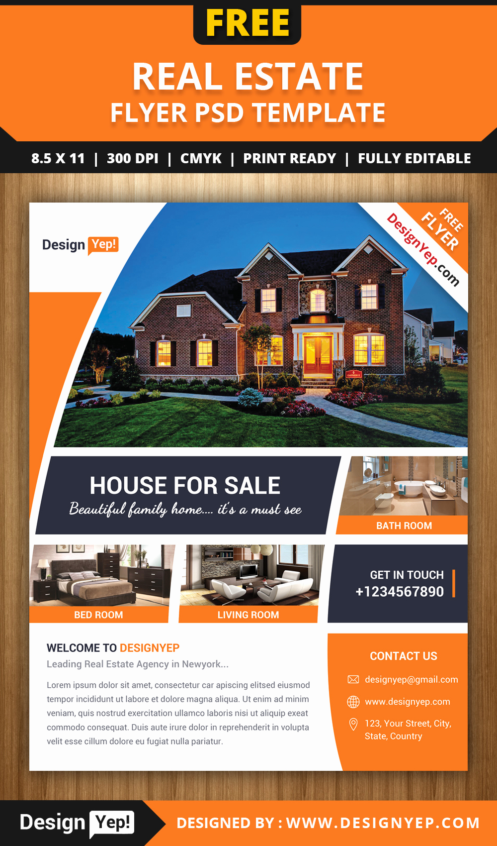 Real Estate Flyer Templates Inspirational Free Real Estate Flyer Psd Template Designyep