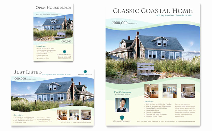 Real Estate Flyer Templates Lovely Coastal Real Estate Flyer & Ad Template Design