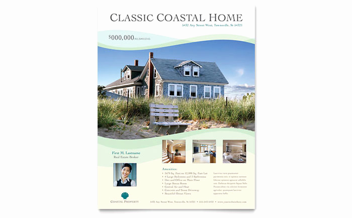 Real Estate Flyer Templates Lovely Coastal Real Estate Flyer Template Design