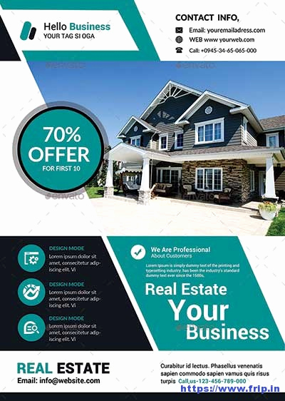 Real Estate Flyer Templates Luxury 50 Best Real Estate Flyer Print Templates 2017
