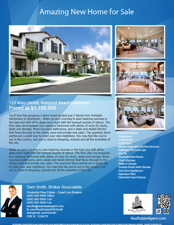 Real Estate Flyer Templates Luxury Real Estate Flyers Pdf Templates Turnkey Flyers