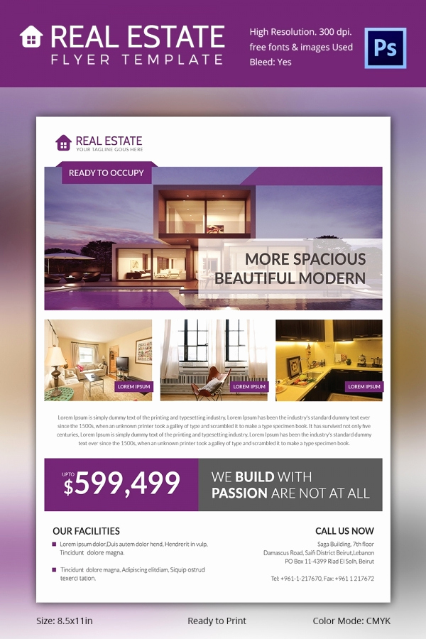 Real Estate Flyer Templates New Real Estate Flyer Template 37 Free Psd Ai Vector Eps