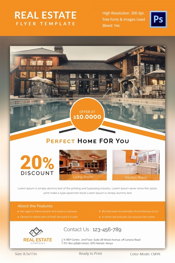 Real Estate Flyer Templates Unique Real Estate Flyer Template 37 Free Psd Ai Vector Eps