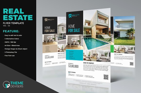 Real Estate Flyer Templates Unique Real Estate Flyer Template Flyer Templates Creative Market