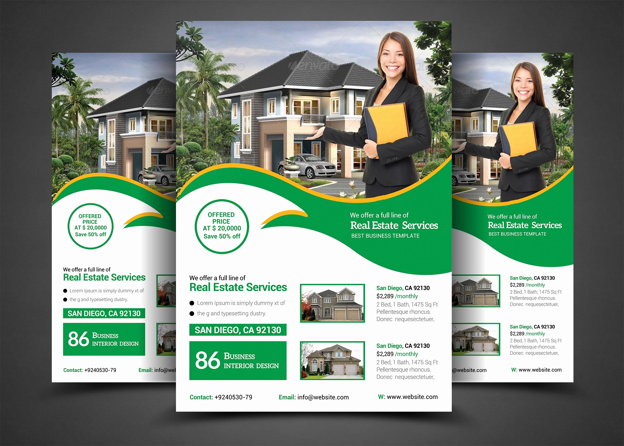 Real Estate Flyer Templates Unique Real Estate Flyer Template Templates Creative Market