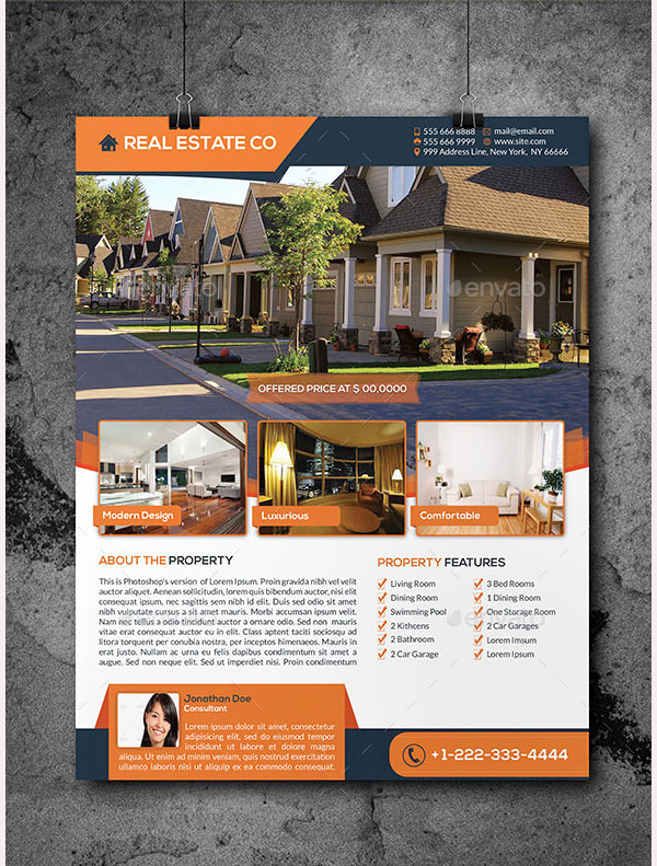 Real Estate Marketing Flyers Awesome 44 Psd Real Estate Marketing Flyer Templates