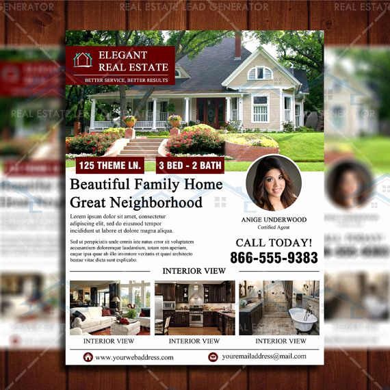 Real Estate Marketing Flyers Fresh Clean Featured Listing Real Estate Marketing Template by