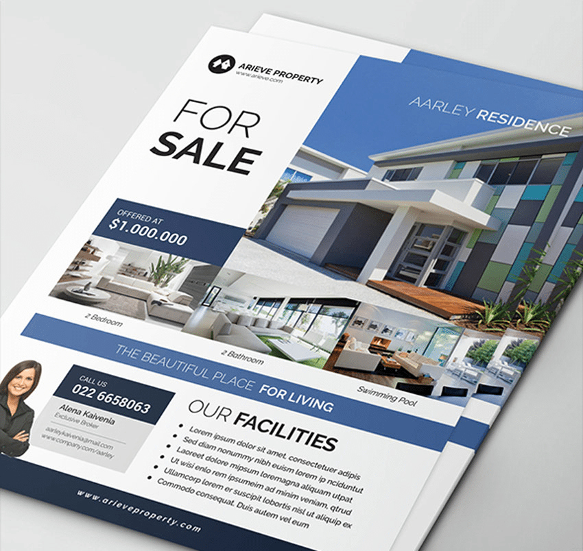 Real Estate Marketing Flyers Luxury top 29 Free & Paid Real Estate Flyer Templates 2019