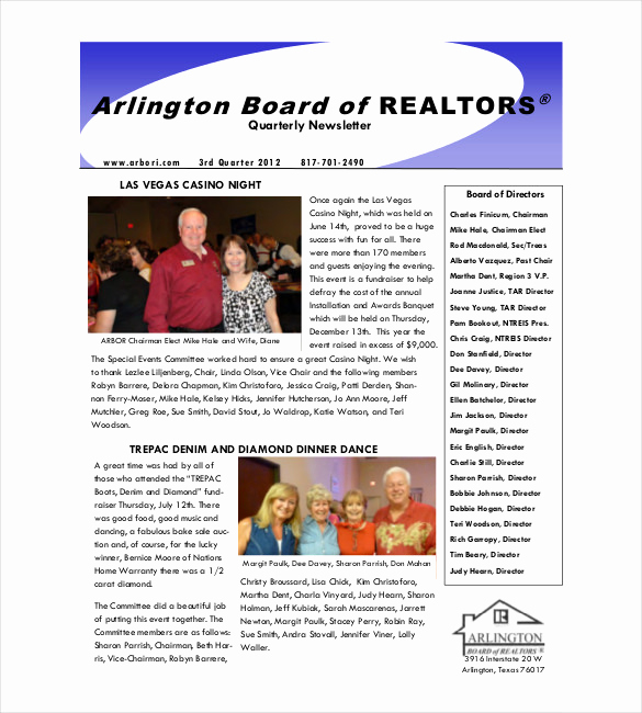 Real Estate Newsletter Templates Best Of 9 Real Estate Newsletter Templates Free Sample Example